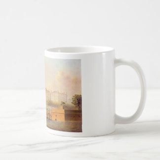 View of the Winter Palace from the west by Vasily Basic White Mug