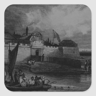 View of Tilbury Fort, engraved by H. Adhard Square Sticker