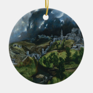 View of Toledo, El Greco Christmas Ornament