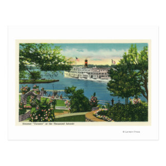 View of Toronto Steamer Postcard