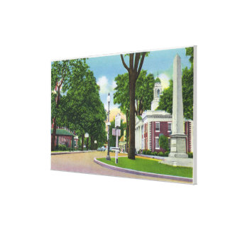 View of Town Hall and Paterson Monument Canvas Print