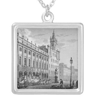 View of Town Hall, Exchange, Glasgow Silver Plated Necklace