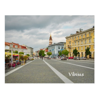 View of Town hall, Vilnius Lithuania Postcard