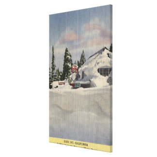 View of Town in Winter Canvas Print