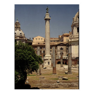 View of Trajan's Column, 113 AD Postcard