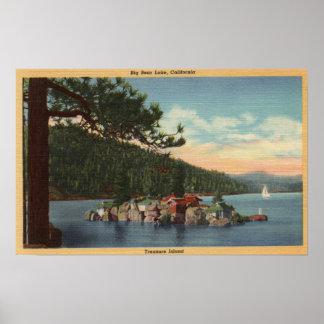 View of Treasure Island Poster