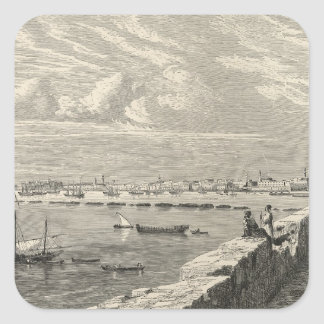 View of Tripoli Square Sticker