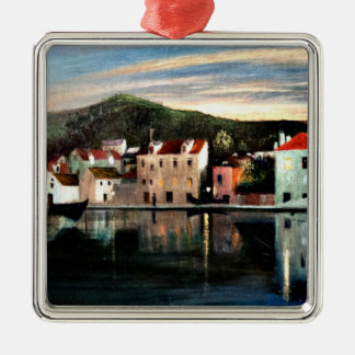 View of Trogir at Sunset - Tivadar Kosztka Christmas Ornament