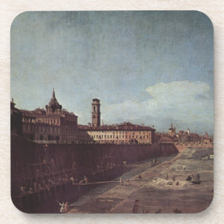 View of Turin from the Gardens of the Palazzo Drink Coaster