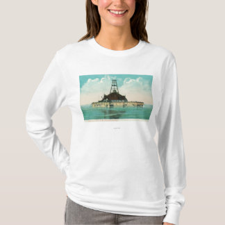 View of Twelfth Street Crib Lighthouse T-Shirt