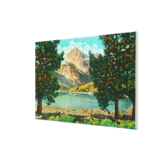 View of Twin Lakes near Bridgeport Canvas Print