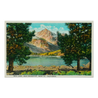 View of Twin Lakes near Bridgeport Posters