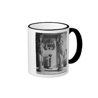 View of two caryatids from the Caryatids' Coffee Mug