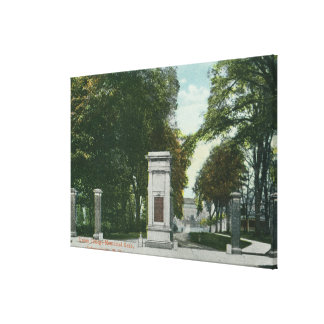 View of Union College Memorial Gate Canvas Print