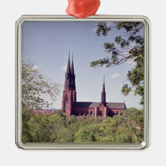 View of Uppsala Cathedral from the Castle Christmas Ornament
