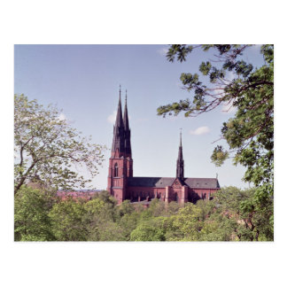 View of Uppsala Cathedral from the Castle Post Card
