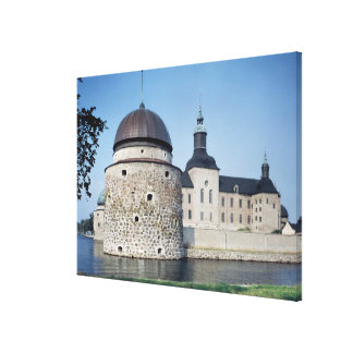 View of Vadstena Castle, built in 1545 Stretched Canvas Print