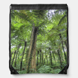 View of vegetation in Bali Botanical Gardens, Drawstring Bag