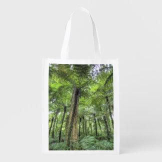 View of vegetation in Bali Botanical Gardens, Reusable Grocery Bag