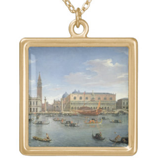 View of Venice from the Island of San Giorgio, 169 Gold Plated Necklace
