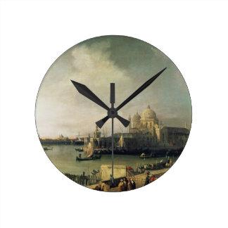 View of Venice Round Clock