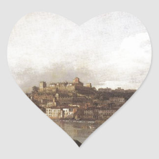 View of Verona and the River Adige from the Ponte Heart Sticker