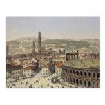 View of Verona, engraved by L. Cherbuin (colour en Postcard
