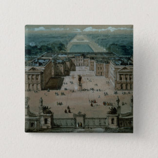 View of Versailles 15 Cm Square Badge