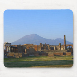 View Of Vesuvius Over The Ruins Of Pompeii Mouse Mat
