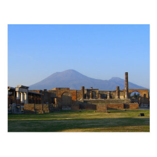 View Of Vesuvius Over The Ruins Of Pompeii Postcard