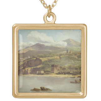 View of Vico Estense from Sorrento looking towards Gold Plated Necklace