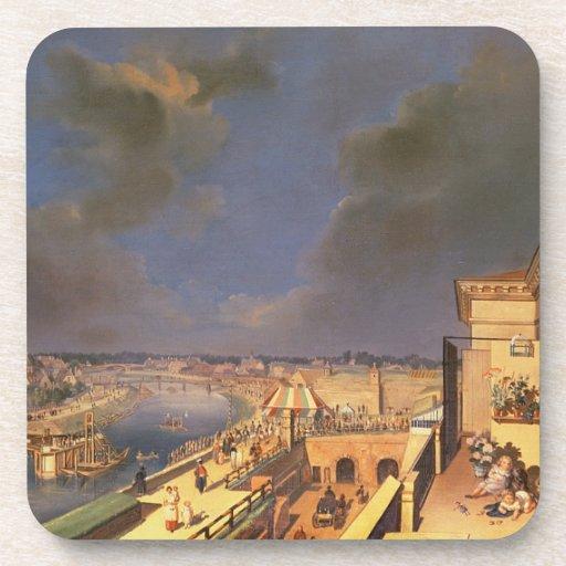 View of Vienna, 1819 (oil on canvas) Beverage Coaster