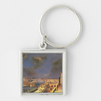 View of Vienna, 1819 (oil on canvas) Silver-Colored Square Key Ring