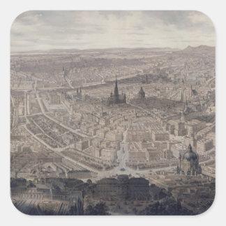 View of Vienna, c.1860 Square Sticker