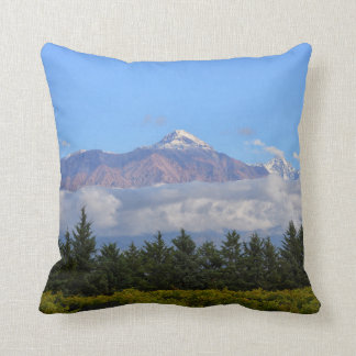 View Of Vineyard With Mountain On Background Cushion