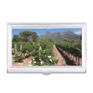 View Of Vineyards. Stellenbosch Business Card Holder