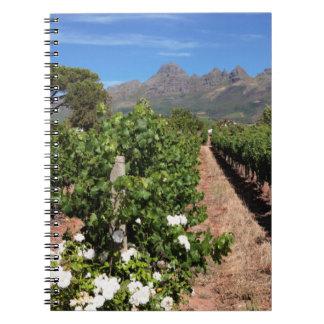 View Of Vineyards. Stellenbosch Notebook