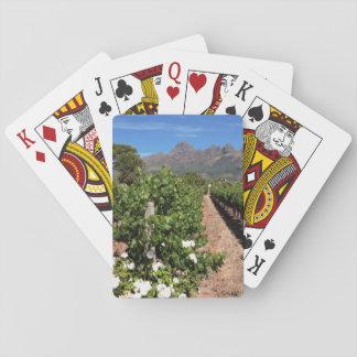 View Of Vineyards. Stellenbosch Playing Cards