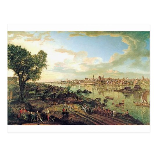 View of Warsaw from Praga by Bernardo Bellotto Postcard