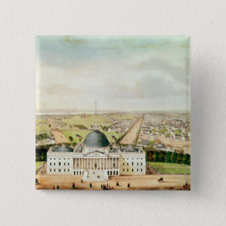 View of Washington 15 Cm Square Badge