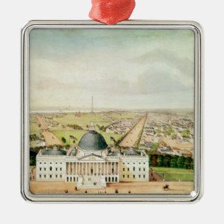 View of Washington Christmas Ornament