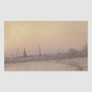 View of Washington, DC coming from Lincoln's Cotta Rectangular Sticker