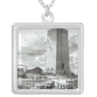 View of Washington Monument Silver Plated Necklace