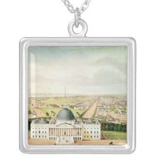 View of Washington Silver Plated Necklace