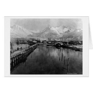 View of waterfront in Valdez, Alaska Photograph Greeting Card