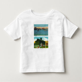 View of Waterfront, Old Ivy Cottage on Liberty Toddler T-Shirt