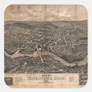 View of Watertown Massachusetts in 1879 Sticker
