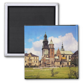 View of Wawel Cathedral Square Magnet