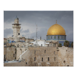 View of Western Wall Plaza, late afternoon 2 Poster