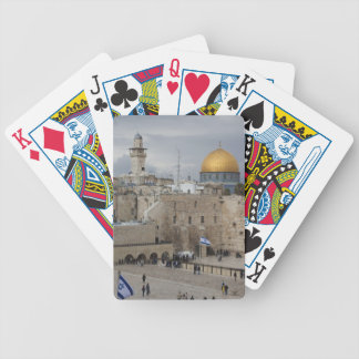 View of Western Wall Plaza, late afternoon Bicycle Playing Cards